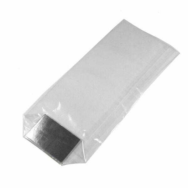 Clear cellophane bags cardboard base