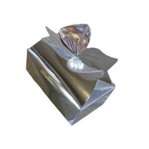 Silver, metallic finish