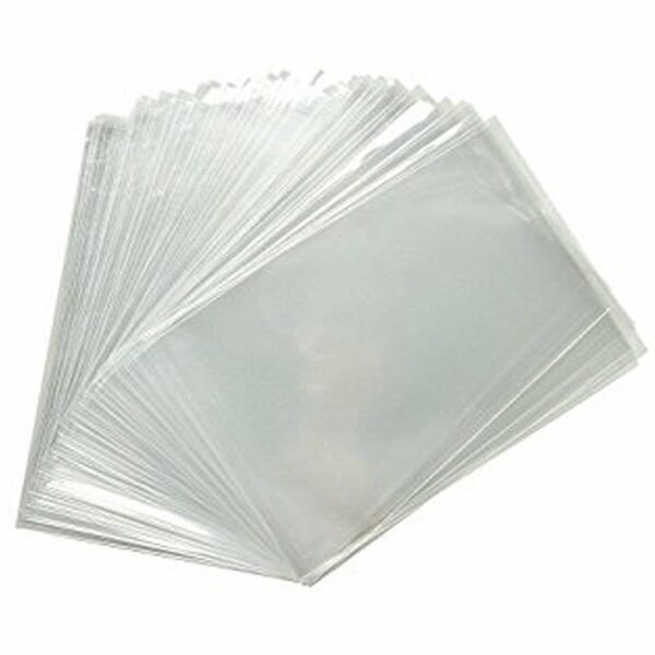 Crystal clear flat cello bag