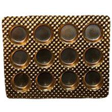 Round gold 12ct plastic tray