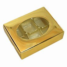 1/4lb gold folding box
