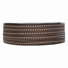 Grosgrain brown ribbon