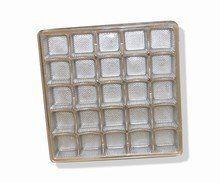 Clear plastic tray, 25ct