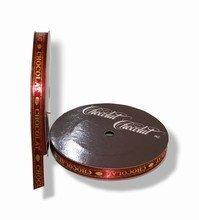 rc66 Ruban chocolat bordeaux-or