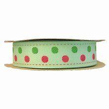 rb22 Mint Green Polka Dots Ribbon