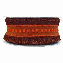 r700 Brown and OrangeFringe Ribbon