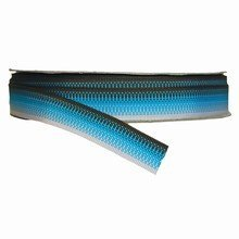 r607 Grosgrain Ribbon with Blue, White and Espresso Stripes