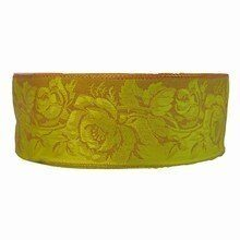r66 Sage Ribbon with Victorian Floral Pattern