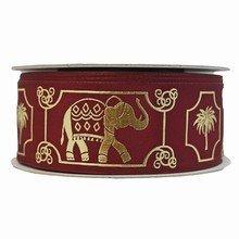 Burgundy Royal Elephant Ribbon (1.5in)