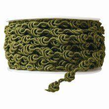 r85 Olive Green Crochet Ribbon