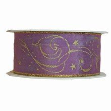 r994 Lilac Ribbon with Gold Print