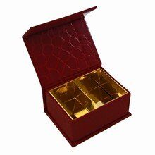 Magnet box Red croco, 2ct