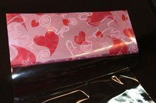Sachet Valentin avec motif coeurs roses 10x20po