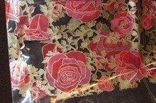 Grand sachet Valentin avec motif roses 16x20po