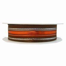 r221 Brown and Copper Sheer Ribbon