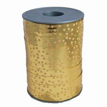 RB142 Two-Tone Gold Star Curling Ribbon