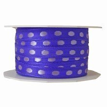 r698 Purple Ribbon with Lilac Dots
