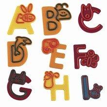 Moule à décorer lettres A à I