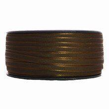 Brown narrow satin ribbon (1/4in)