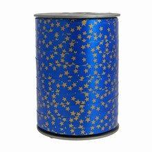 Bolduc ribbon star motif on blue