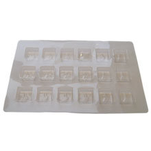 Square clear 18ct plastic tray