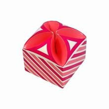 Candy Pink Striped Tulip Box (50)