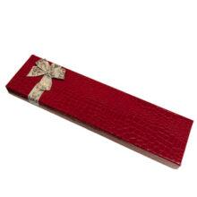 Red croco box, 18ct