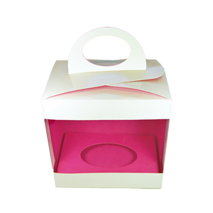 Box for 3d chocolate, pink inner