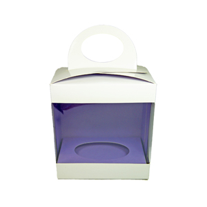 Box for 3d chocolate, inner lilac