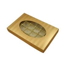 Gold Stripes, 1lb rectangular box