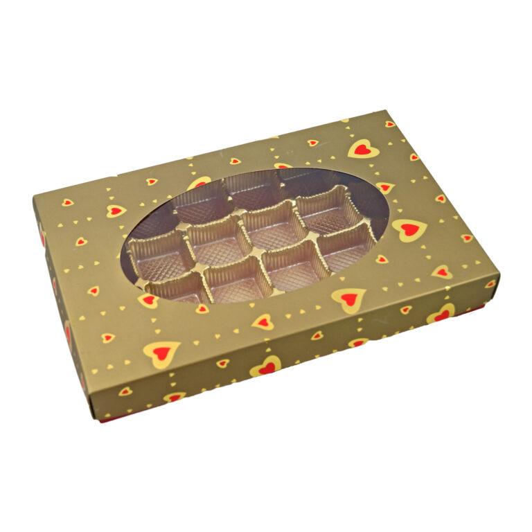 Boîte 1lb rectangle, Valentin Or
