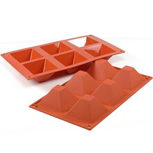 Flat Top Large Pyramid Silicone Mold