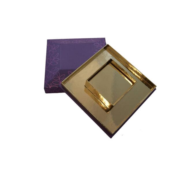 Roncard Pyramid box, two-tier