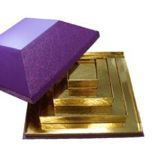 Roncard Pyramid box, four-tier