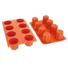 Bavarian fluted silicone mold