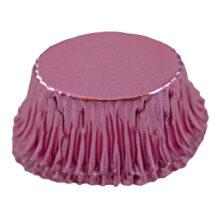 Candy cups metallic oval pink (200u.)