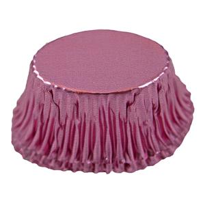 Caissettes métalliques rose ovales (200u.)