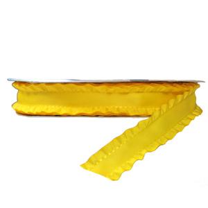 Ruban à volant jaune 25mm