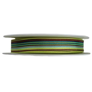 Ruban à rayures marron, bleu et vert