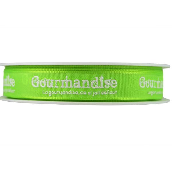 Ruban Gourmandise, vert lime_15mm