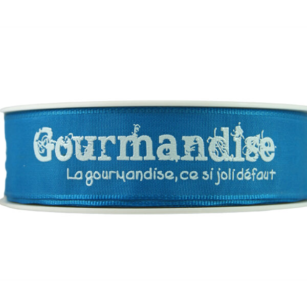 Ruban Gourmandise, bleu_25mm