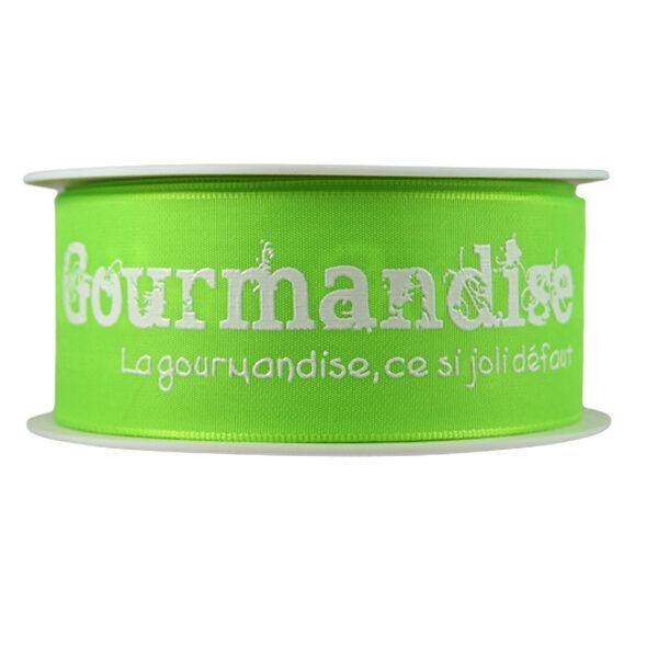 Ruban Gourmandise, vert lime_40mm