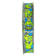 Blue and Green Clothilde Ribbon, 5/8in