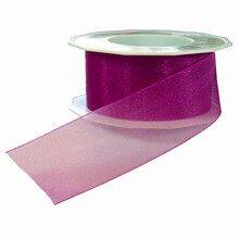 Sheer magenta ribbon (1.5in)