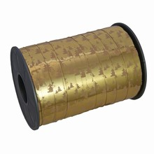 Ruban bolduc or métallique motif sapins