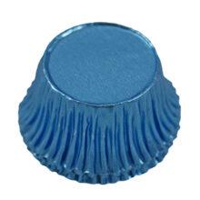 Candy cups metallic blue round (200u.)