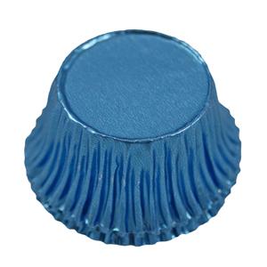 Caissettes bleu métallique rondes (200u.)
