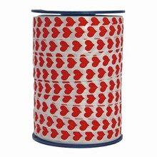 Bolduc ribbon red heart motif