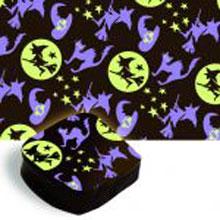 Feuilles de transfert Halloween sorcières et chats