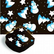 Transfer sheets, Snowman blue and white